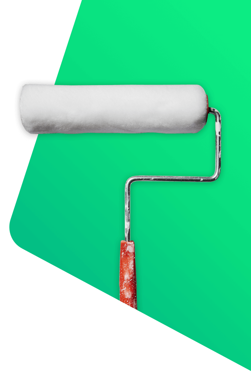 White and red paint roller - decorator & handyman insurance