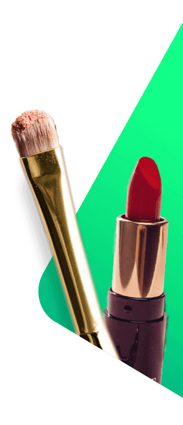makeup and lipstick