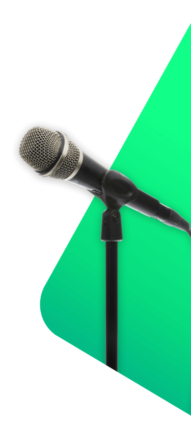 Microphone and stand - musician & event insurance