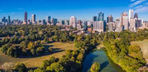 Atlanta skyline for Georgia business insurance