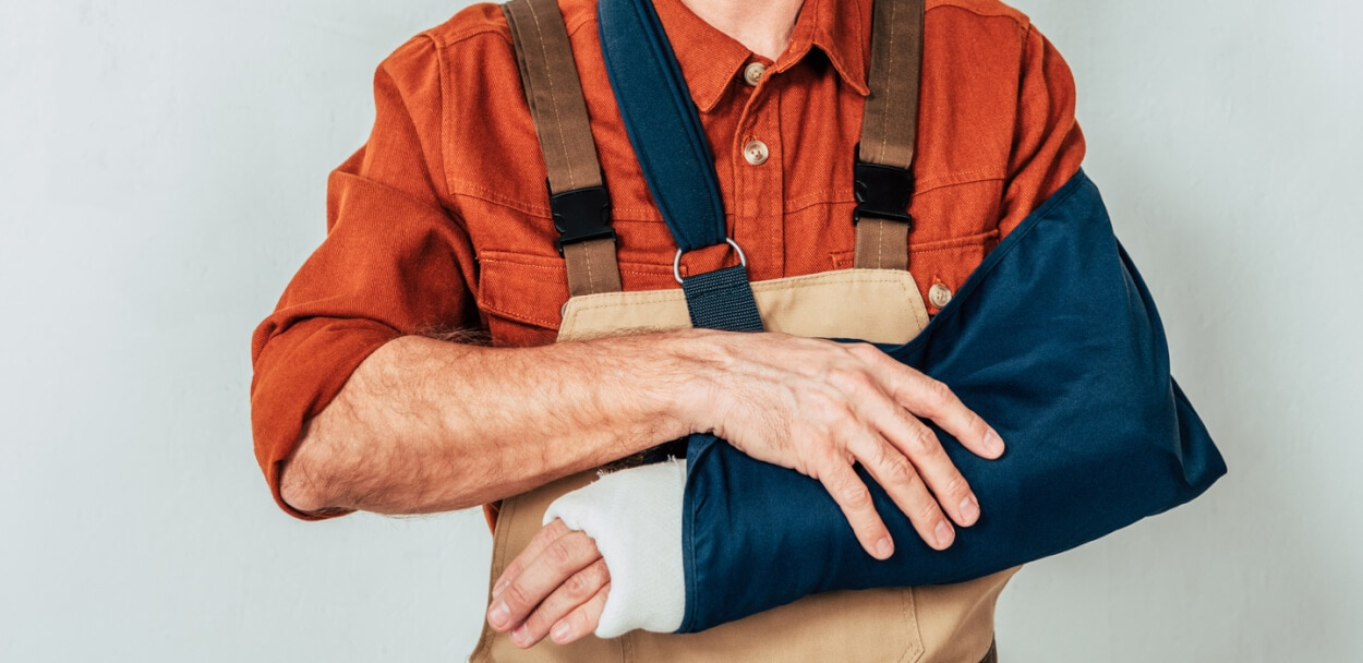 handyman with an injury