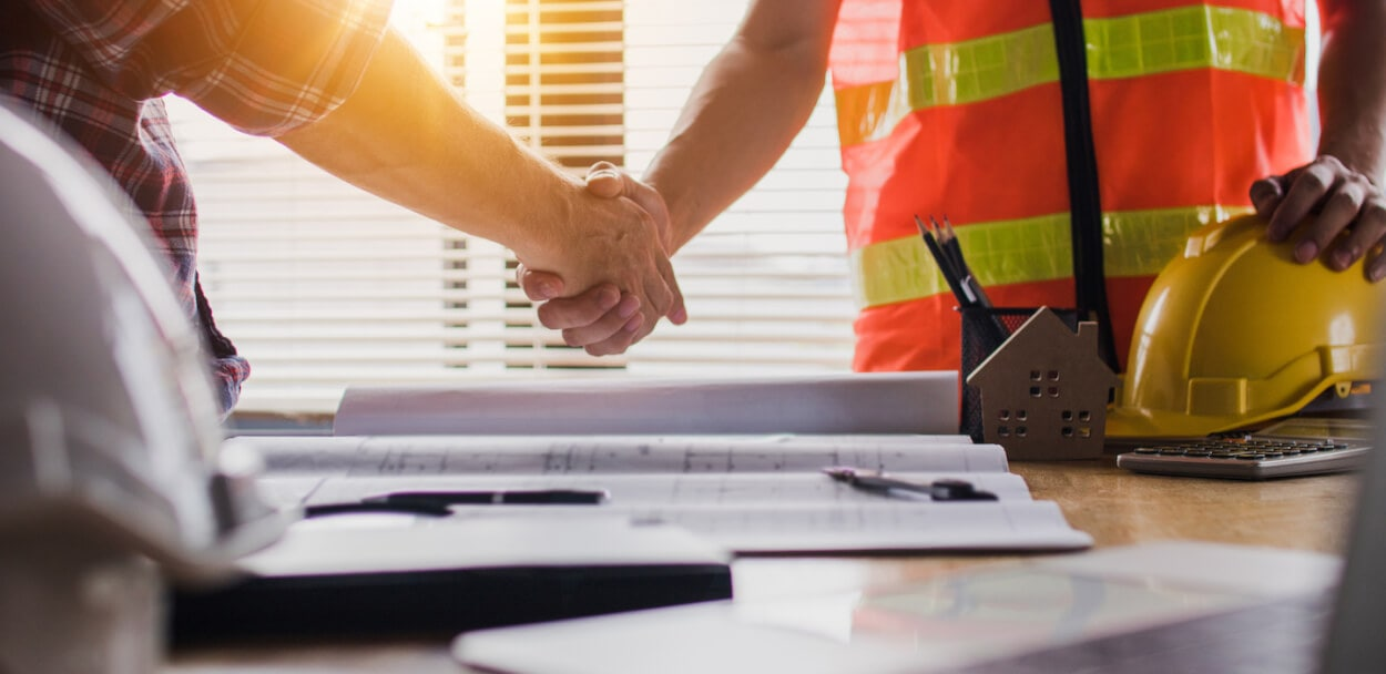 handshake signifying a business agreement