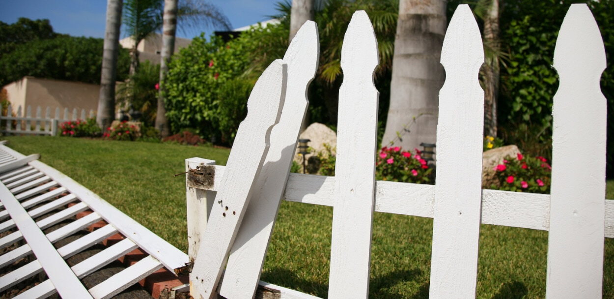 fence to show property damage