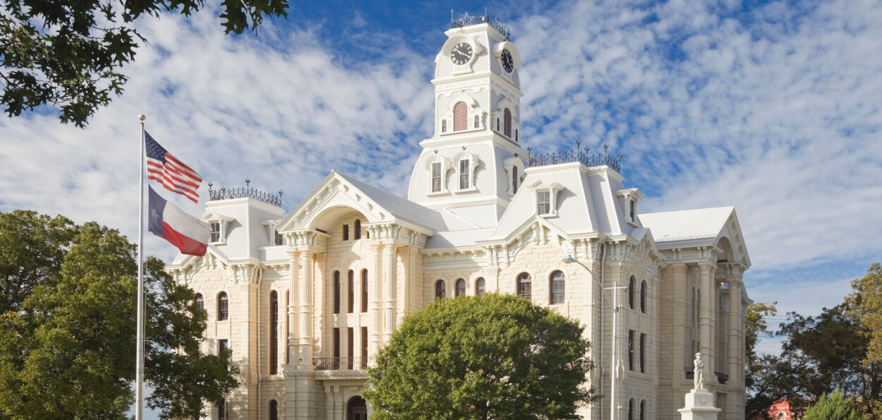 Texas historic courthouse