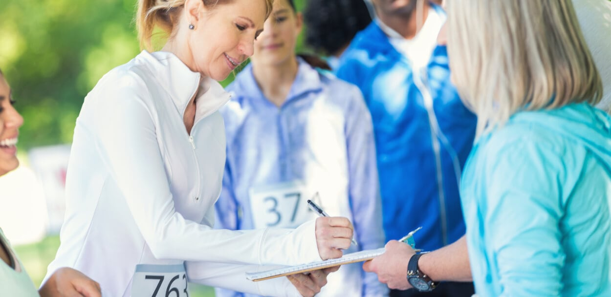 signing an event liability waiver