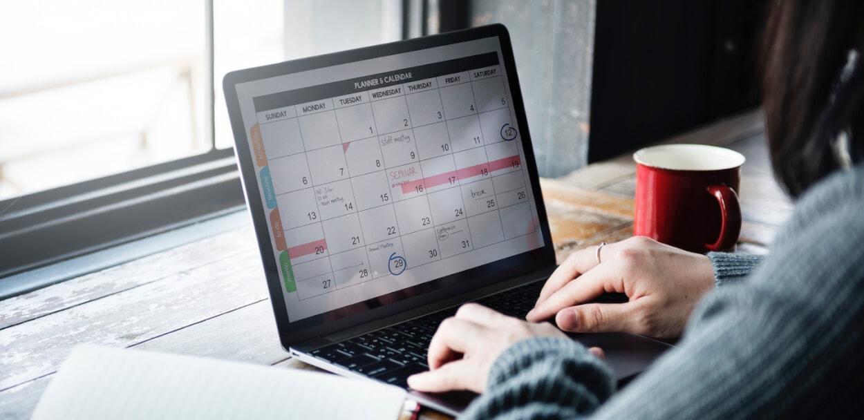calendar to show grace period