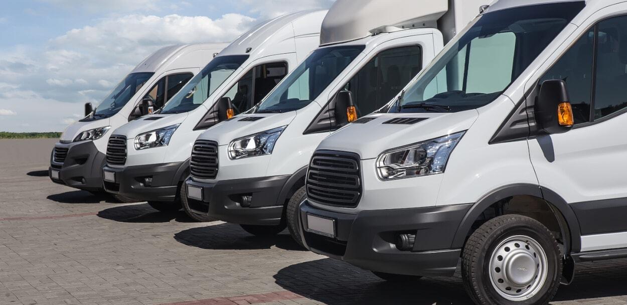 white vans for commercial auto insurance