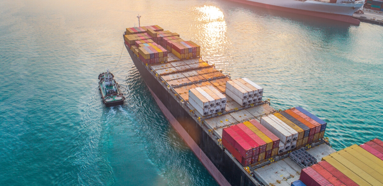 container ship for ocean marine insurance