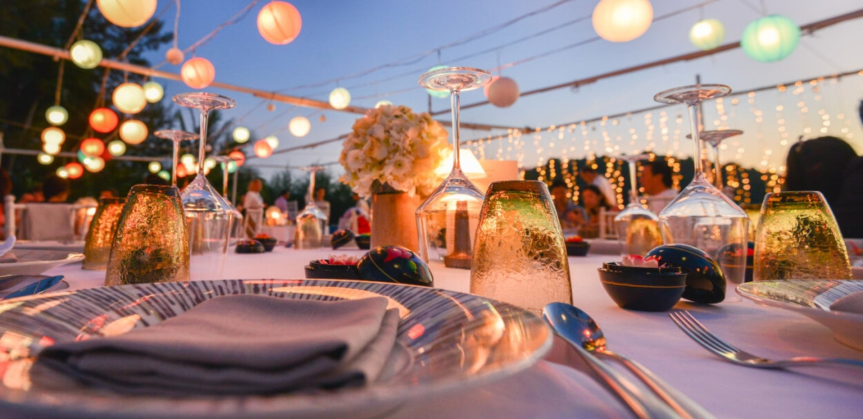 table setting for a special event