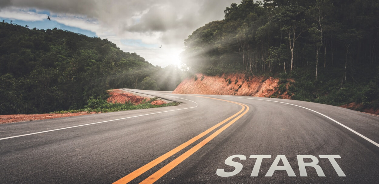 road with start to show best places to start a business
