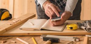 carpenter doing calculations