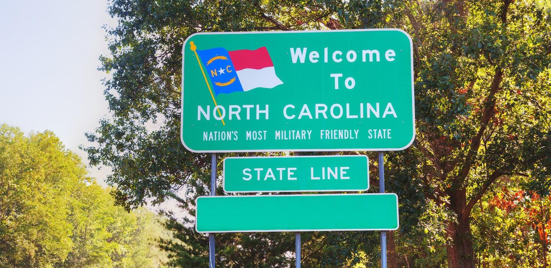 North Carolina road sign