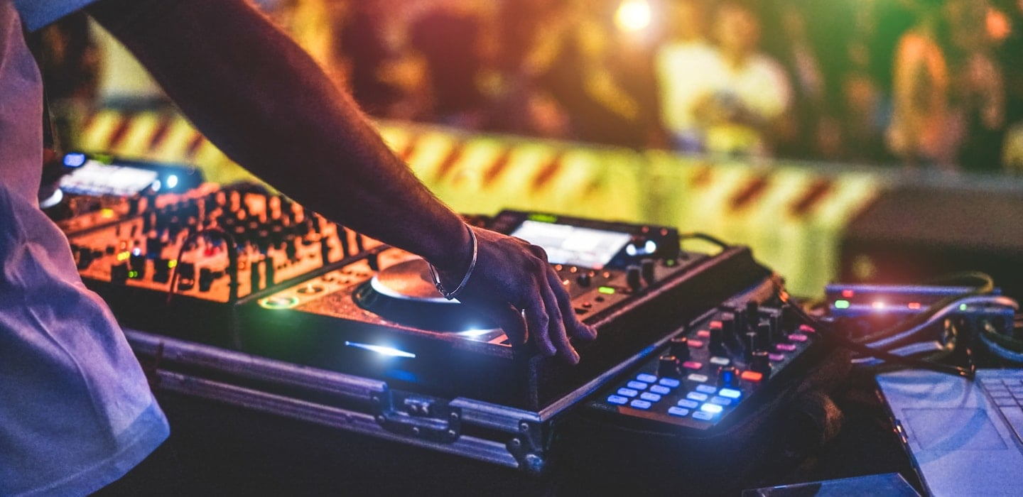dj playing an event