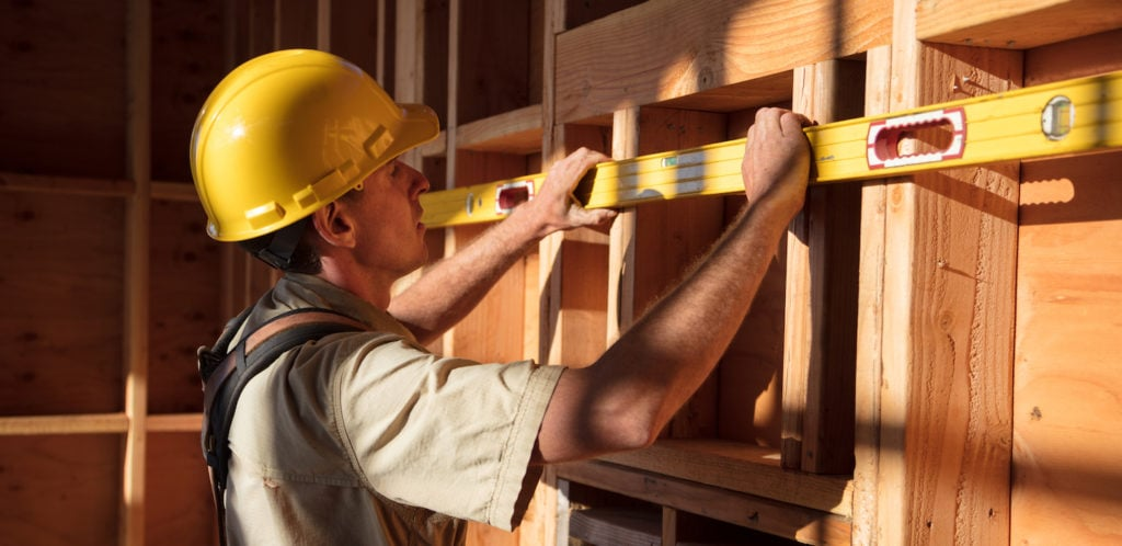 general contractor measuring a house in CA