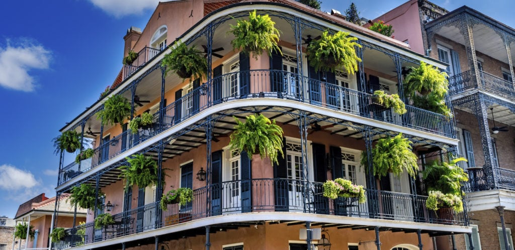 french quarter building in NOLA