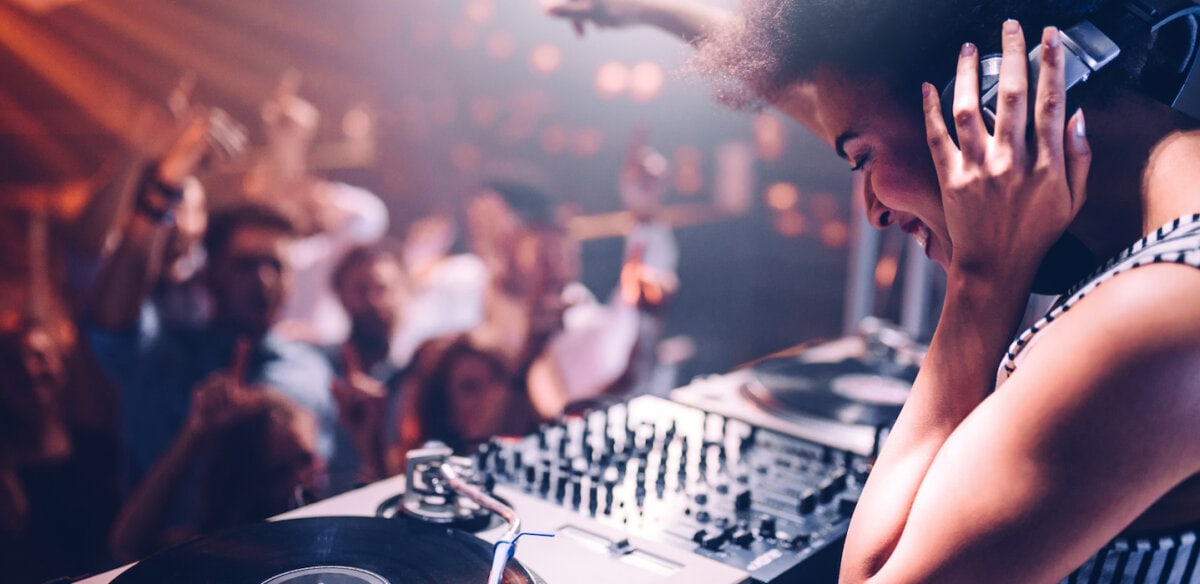 DJ at a show