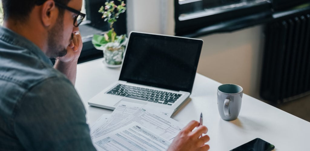 freelancer doing taxes
