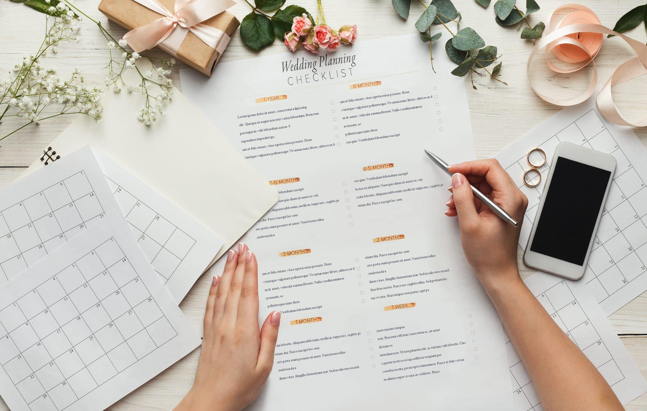 Your 12 month, stress-free wedding planning checklist